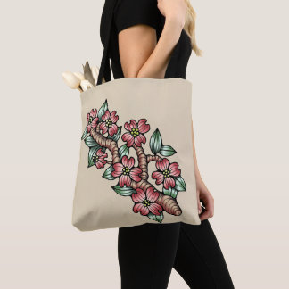 Pink Dogwood Tree Branch Tote Bag