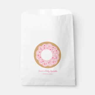 Pink Donut Baby Sprinkle Favor Favour Bag