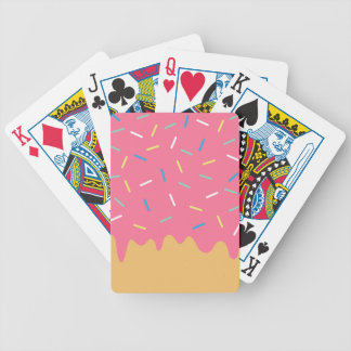 Pink Donut Bicycle Playing Cards