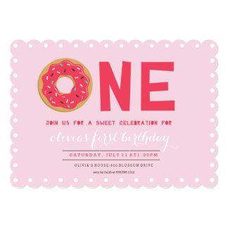PINK DONUT BIRTHDAY INVITATION