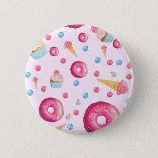 Pink Donut Collage 2 Inch Round Button