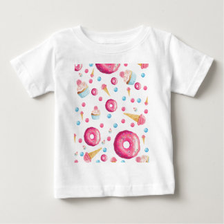 Pink Donut Collage Baby T-Shirt