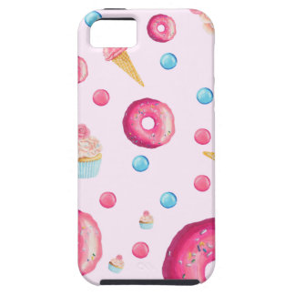 Pink Donut Collage iPhone 5 Case