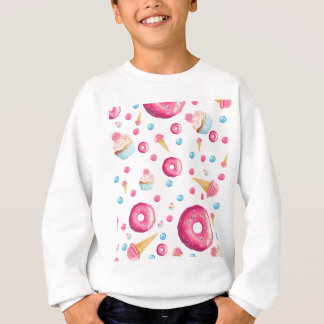 Pink Donut Collage Sweatshirt