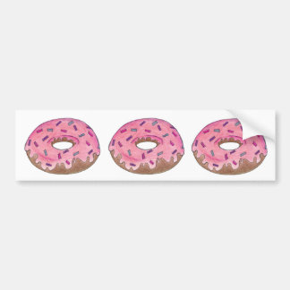 Pink Donut Donuts Doughnut Foodie Bumper Sticker