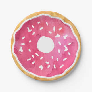 Pink Donut Paper Plates