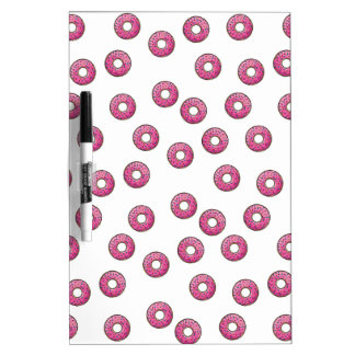 Pink Donut Polka Dot Pattern - Bakery Dry-Erase Whiteboards