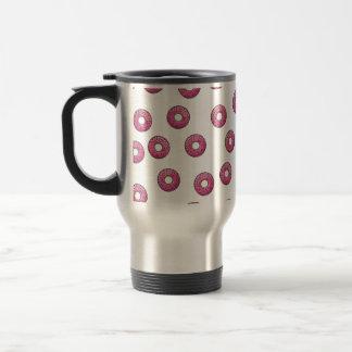 Pink Donut Polka Dot Pattern - Bakery Travel Mug