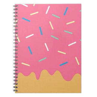 Pink Donut Spiral Notebook