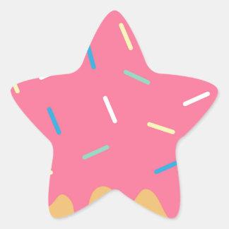 Pink Donut Star Sticker