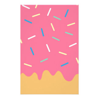 Pink Donut Stationery