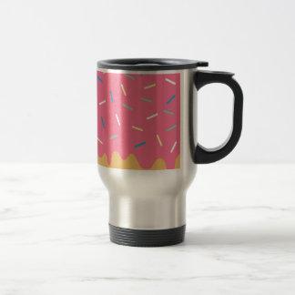 Pink Donut Travel Mug