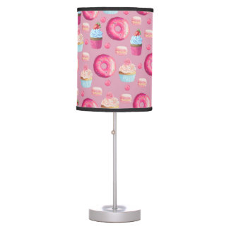 Pink Donuts, Cupcakes, and Candies Desk Lamp