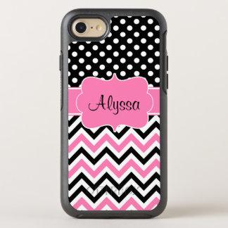 Pink Dot Chevron OtterBox Symmetry iPhone 7 Case