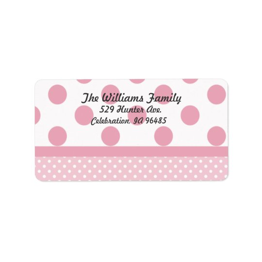 Pink Dots Address Label
