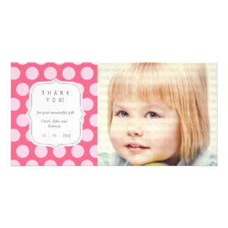 Pink Dots - Any Occasion Thank you Photo Card Template