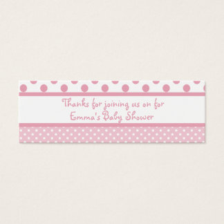 Pink Dots Baby Shower Favor Tag