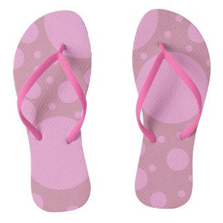 Pink Dots Custom Adult, Slim Straps Flip Flops