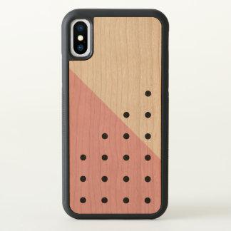 Pink Dots Geometric Pattern iPhone X Case