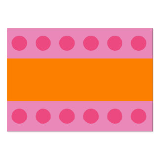 Pink Dots Gift Tag Business Card Template