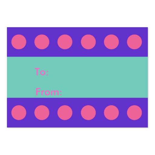 Pink Dots Gift Tag Business Card Templates
