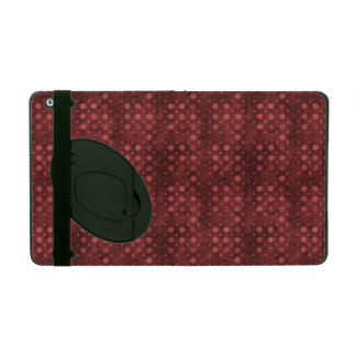 Pink Dots on Red Grunge iPad Folio Cases