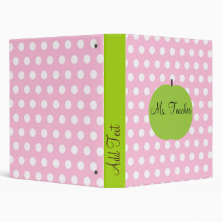 Pink Dots Personalized Teacher Binder