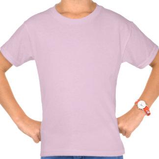 Pink Dottie Dachshund Girls Tshirts