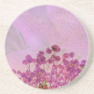 Pink Double Exposure Coaster
