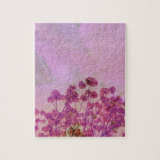 Pink Double Exposure Jigsaw Puzzle