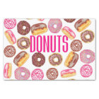 Pink Doughnut Typography and Watercolor Cute Tissue Paper