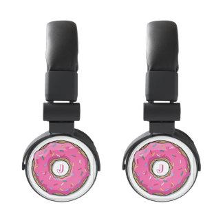 Pink Doughnut w/ Sprinkles Monogram Headphones