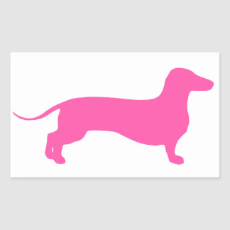 Pink Doxie Stickers