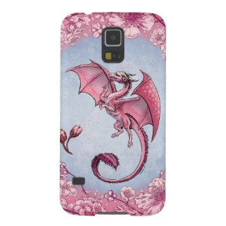 Pink Dragon of Spring Nature Fantasy Art Cases For Galaxy S5