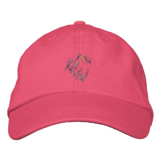 Pink dragon of thorns embroidered baseball cap