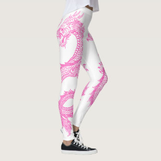 Pink Dragons Personalize Background Color Leggings