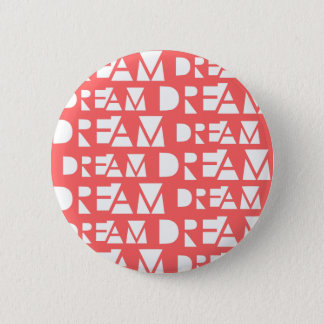 Pink Dream Geometric Cutout Print 2 Inch Round Button