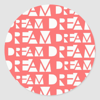 Pink Dream Geometric Cutout Print Classic Round Sticker