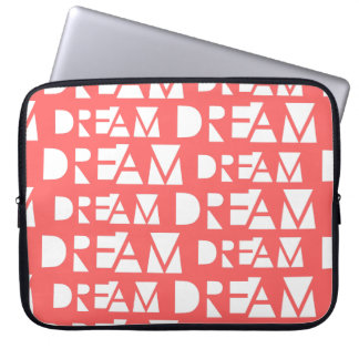 Pink Dream Geometric Cutout Print Laptop Sleeve