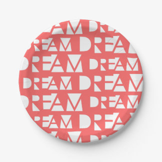 Pink Dream Geometric Cutout Print Paper Plate