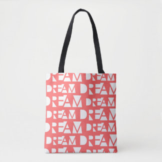 Pink Dream Geometric Cutout Print Tote Bag