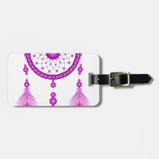 Pink Dreamcatcher Luggage Tag