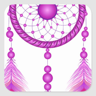 Pink Dreamcatcher Square Sticker