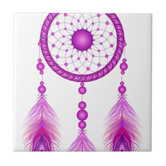 Pink Dreamcatcher Tile