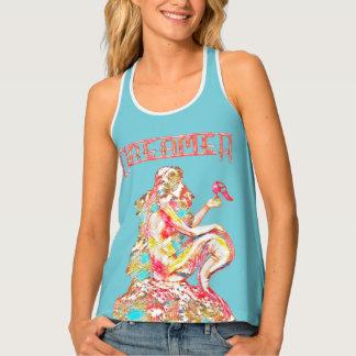 Pink Dreamer Vintage Mermaid ReDesign by Aleta Tank Top