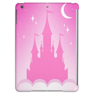 Pink Dreamy Castle In The Clouds Starry Moon Sky iPad Air Cover