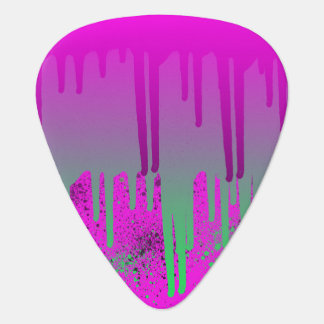 Pink Drippin' Paint Guitar Pick