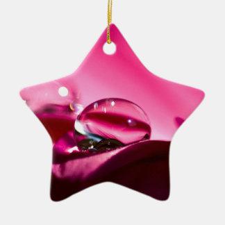 Pink Drop Ceramic Ornament