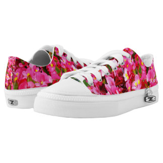 Pink Droplets Of Spring, Lowtop Zipz Sneakers. Low-Top Sneakers