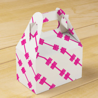 Pink Dumbbell / Barbell Favor Box